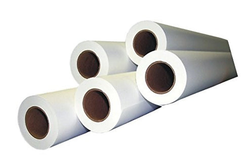 "Case of 4, 36"" x 150' 20lb 92 Bright Wide Format Inkjet CAD Media Bond Paper Rolls Untaped, 2"" Core"