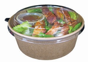 Clear Dome Lids for Kraft Deli Bowl 26oz, 360/case - C-PAC