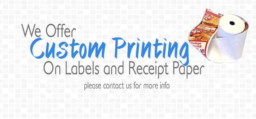 custom printed receipts labels