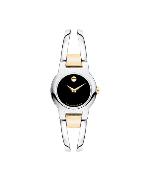 Movado Women's Amorosa watch, 24 mm stainless Steel and Yellow Gold-plated 0606893 - Arnik Jewellers