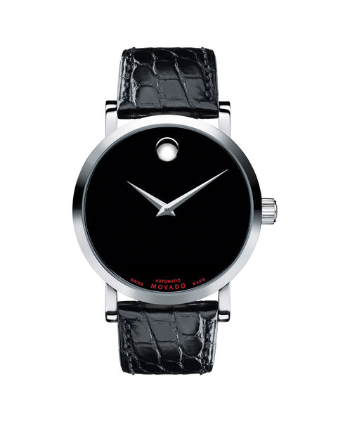 Movado Men's Red Label Automatic Watch, 42 mm Stainless Steel 0606112 - Arnik Jewellers