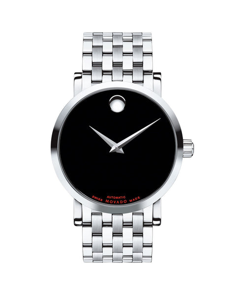 Movado Men's Red Label Automatic Watch, 42 mm Stainless Steel 0606283 - Arnik Jewellers