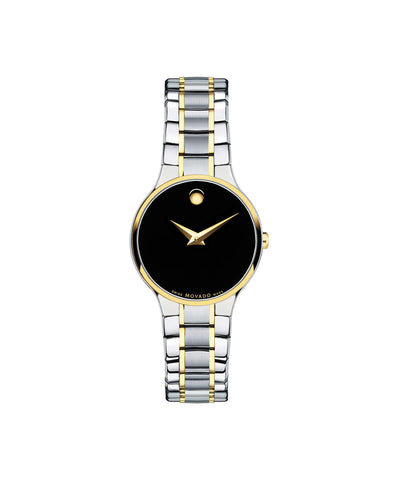 Movado Women's Serio Watch, 26 mm Stainless Steel and Yellow Gold-Plated 0606389 - Arnik Jewellers