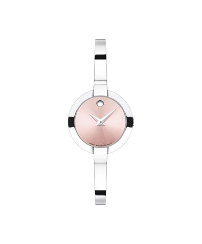 Movado Women's Bela Watch, 25 mm Stainless Steel, White Mother-of-Pearl Museum Dial 0606596 - Arnik Jewellers
