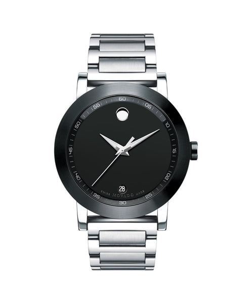 Movado Men's Museum Sport Watch, 42 mm Stainless Steel 0606604 - Arnik Jewellers