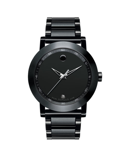 Movado Men's Museum Sport Watch, 42 mm Black PVD-Finished Stainless Steel case and Bezel 0606615 - Arnik Jewellers