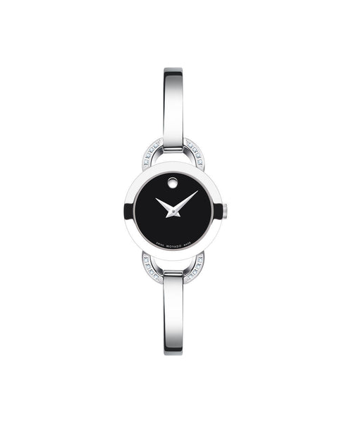 Movado Women's Rondiro Watch, 22 mm Stainless Steel with Open Semicircular Lugs and 16 Diamonds 0606798 - Arnik Jewellers
