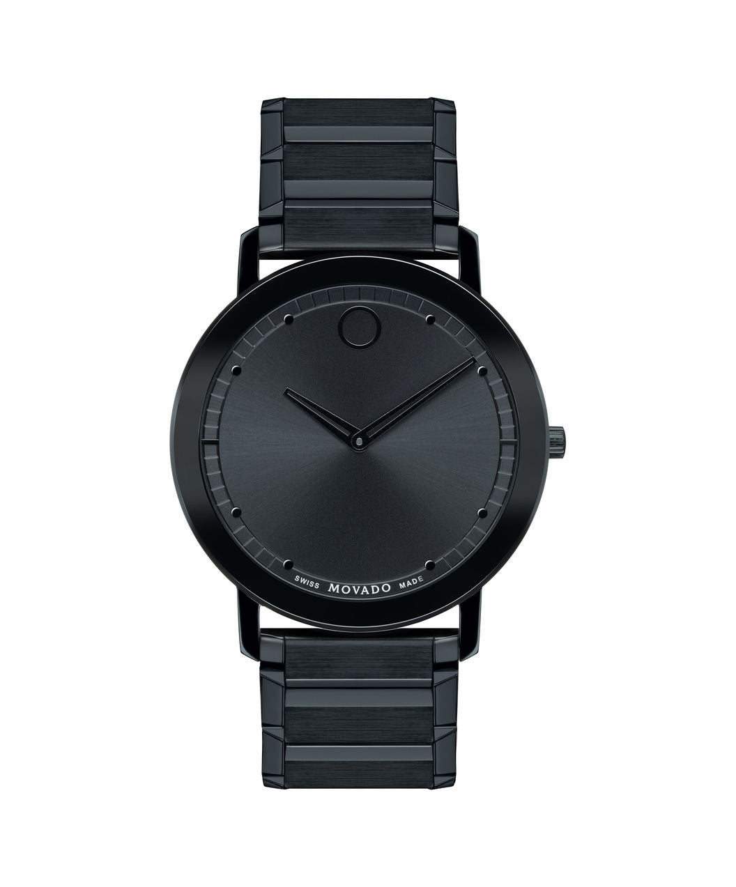 Movado Men's Sapphire Watch, Thin 40 mm Black PVD-Finished Stainless Steel Bezel-Free 0606882 - Arnik Jewellers