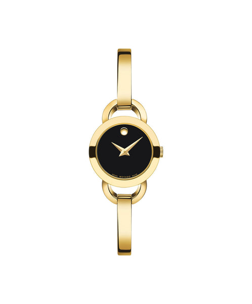 Movado Women's Rondiro Watch, 22 mm Yellow Gold PVD-Finished Stainless Steel, Bangle-Style Bracelet 0606888 - Arnik Jewellers