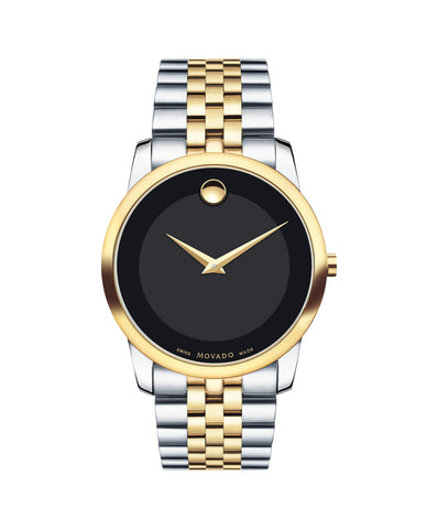 Movado Men's Museum Classic Watch, 40 mm Stainless Steel and Yellow Gold PVD-Finished 0606899 - Arnik Jewellers