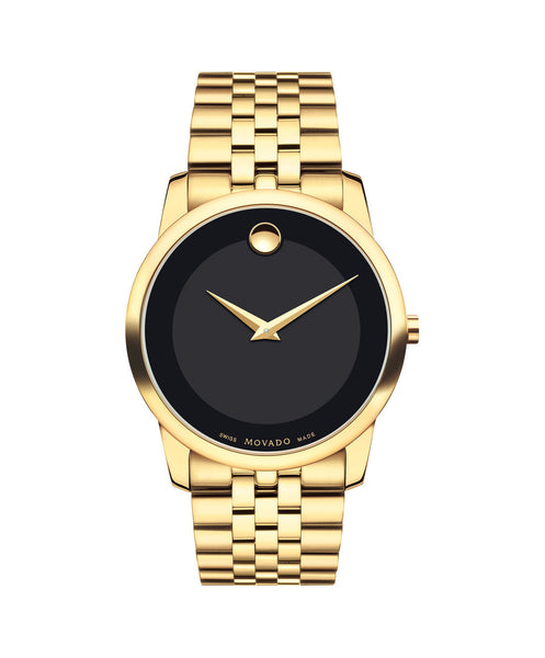 Movado Men's Museum Classic watch, 40 mm Yellow Gold PVD-Finished Stainless Steel 0606997 - Arnik Jewellers