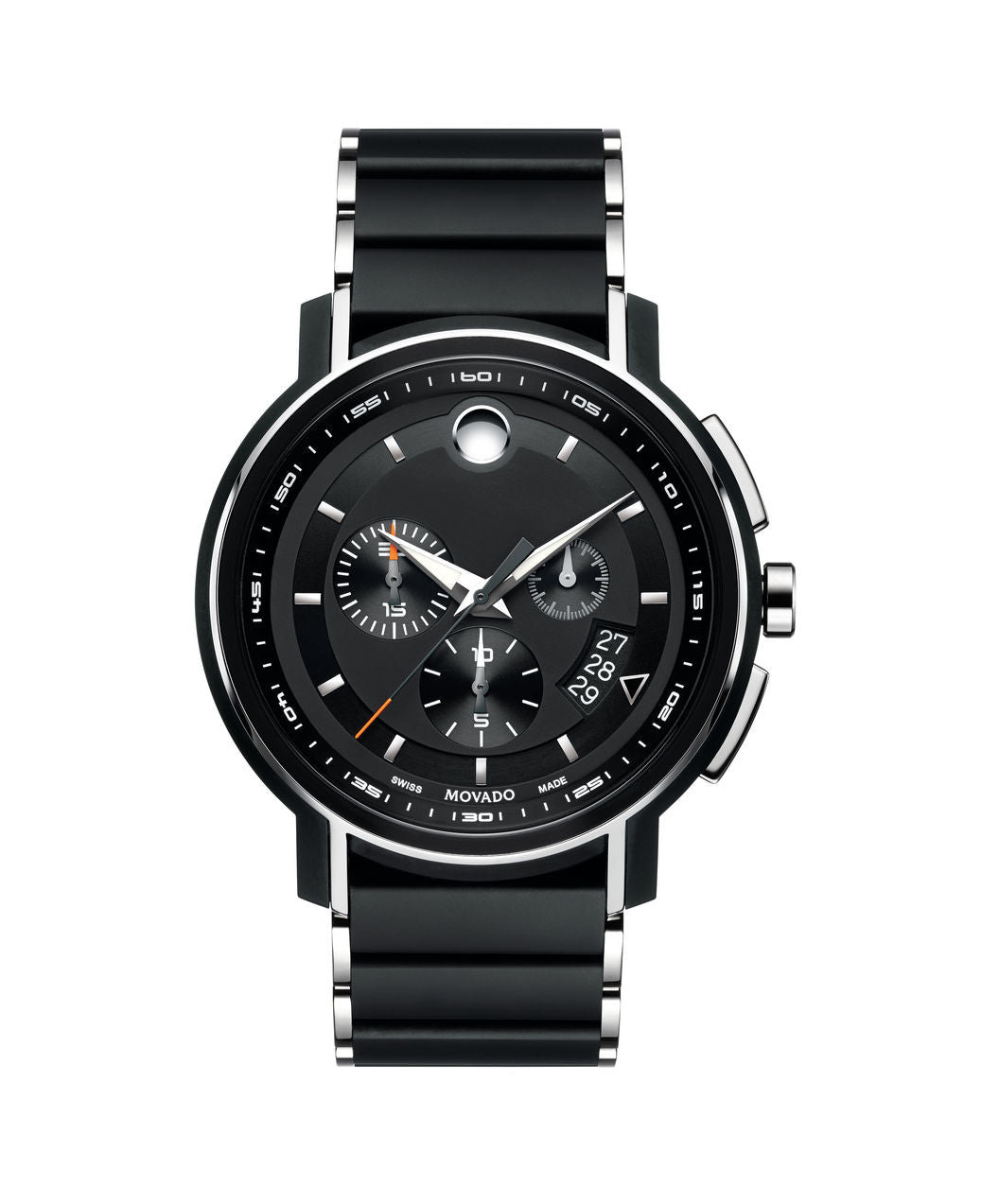 Movado Men's Strato chronograph Watch, 44 mm PVD Finished Stainless Steel 0607006 - Arnik Jewellers