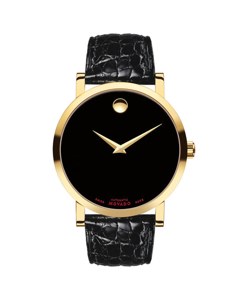 Movado Men's Red Label Automatic Watch, 42 mm Yellow Gold PVD & Stainless Steel 0607007 - Arnik Jewellers