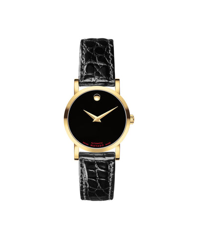 Movado Women's Red Label Automatic Watch, 26 mm Yellow Gold PVD & Stainless Steel 0607010 - Arnik Jewellers