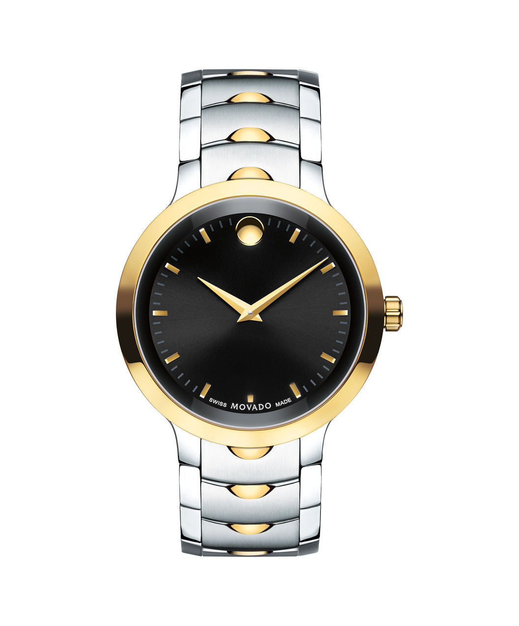 Movado Men's Luno Watch, 40 mm Yellow Gold PVD & Stainless Steel 0607043 - Arnik Jewellers