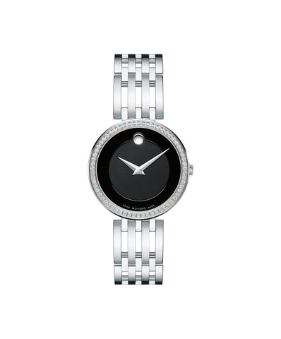 Movado Esperanza Women's Diamond Bezel Watch, 28 mm Stainless Steel 0607052 - Arnik Jewellers