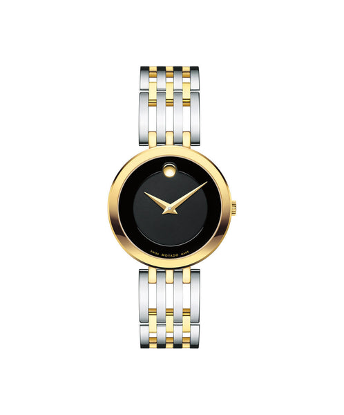Movado Esperanza Women's Watch, 28 mm Yelow Gold PVD & Stainless Steel 0607053 - Arnik Jewellers