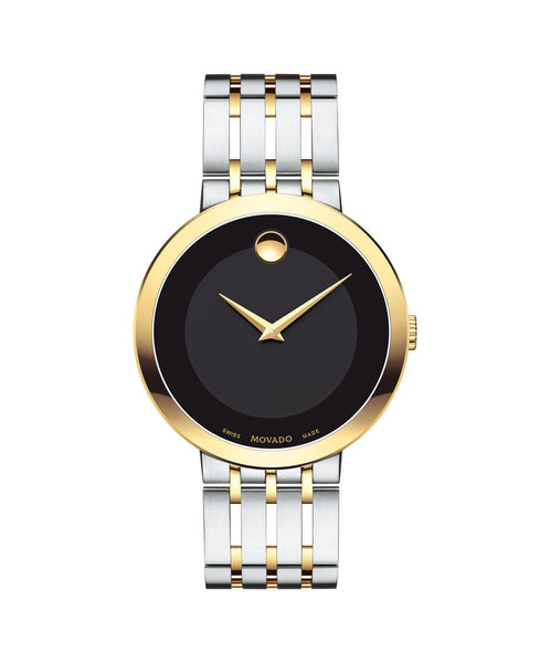 Movado Esperanza Men's Watch, 39 mm Yellow Gold PVD & Stainless Steel 0607058 - Arnik Jewellers