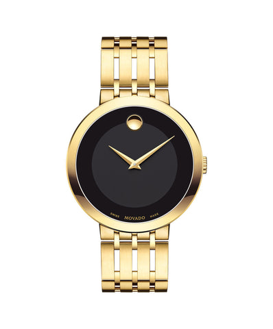 Movado Esperanza Men's Watch, 39 mm Yellow Gold PVD 0607059 - Arnik Jewellers