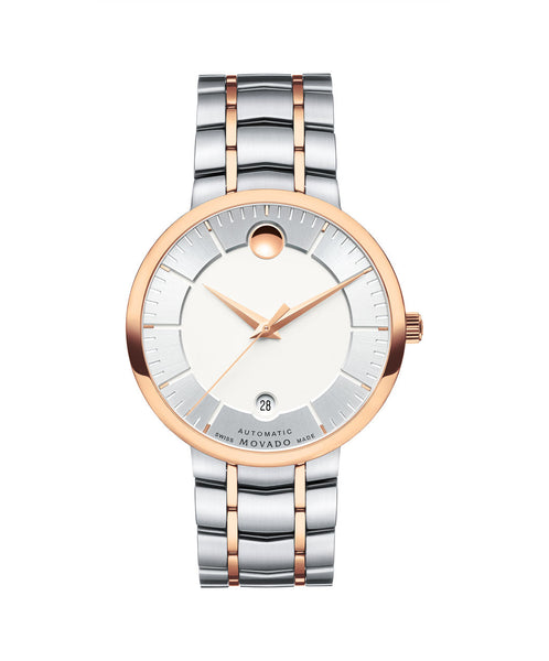 Movado Men's 1881 Automatic Watch, 39.5 mm Rose Gold PVD & Stainless Steel 0607063 - Arnik Jewellers