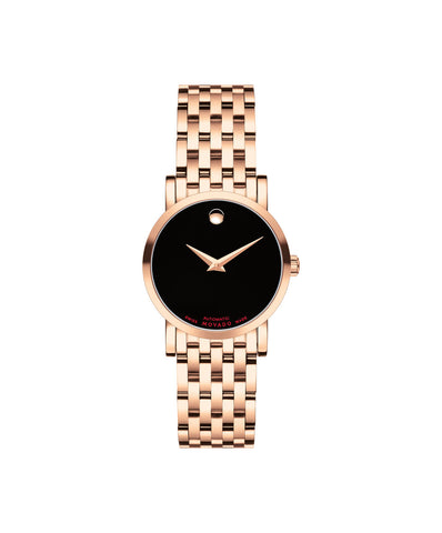 Movado Women's Red Label Automatic Watch, 26 mm Rose Gold PVD Stainless Steel 0607064 - Arnik Jewellers