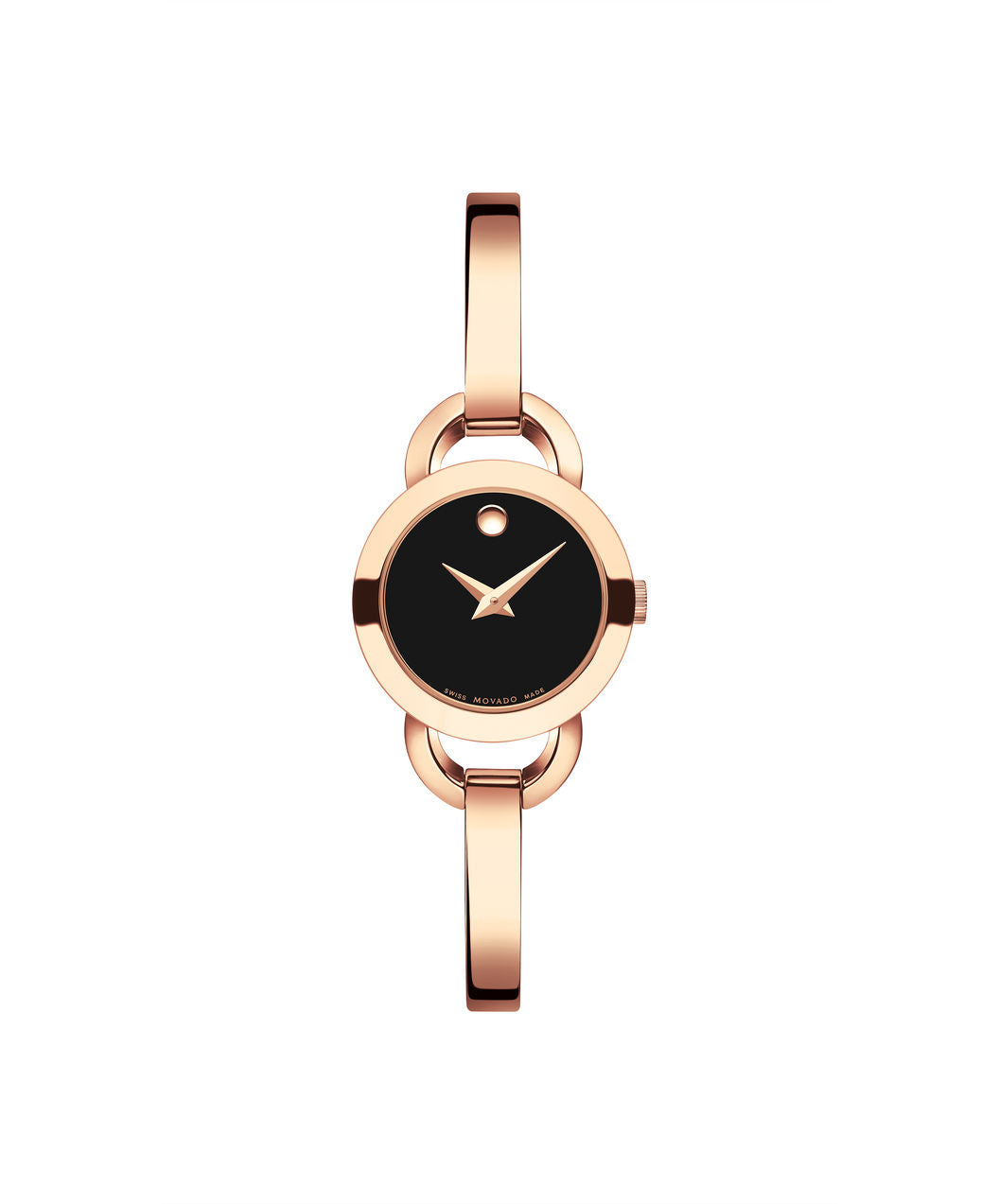 Movado Women's Rondiro Watch, 22 mm Rose Gold PVD Stainless Steel with Open Semicircular Lugs 0607065 - Arnik Jewellers