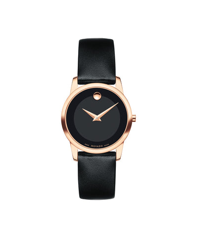 Movado Women's Museum Classic Watch, 28 mm Rose Gold PVD Stainless Steel 0607079 - Arnik Jewellers