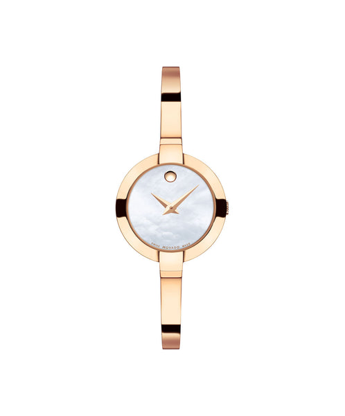 Movado Women's Bela Watch, 25 mm Rose Gold PVD Stainless Steel 0607082 - Arnik Jewellers