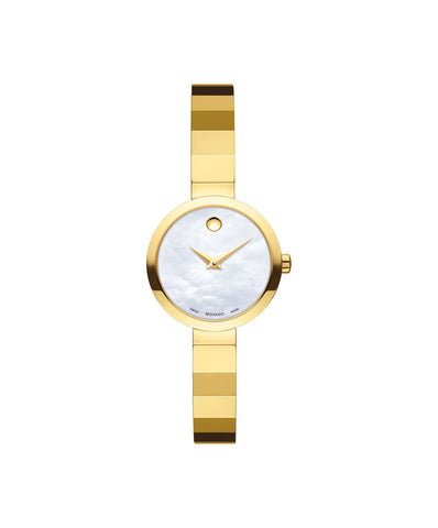 Movado Women's Novella Watch, 24 mm Yellow Gold PVD Stainless Steel 0607111 - Arnik Jewellers