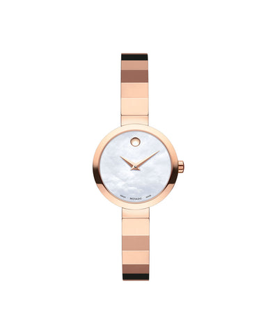 Movado Women's Novella Watch, 24 mm Rose Gold PVD Stainless Steel 0607112 - Arnik Jewellers
