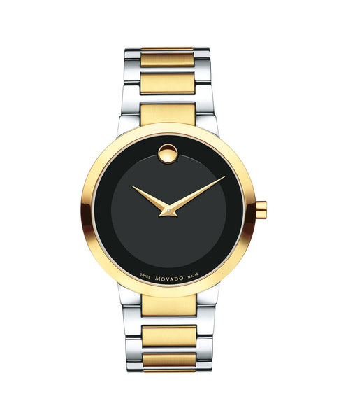 Movado Modern Classic Men's Watch, 39.2 mm Yellow Gold PVD & Stainless Steel 0607120 - Arnik Jewellers