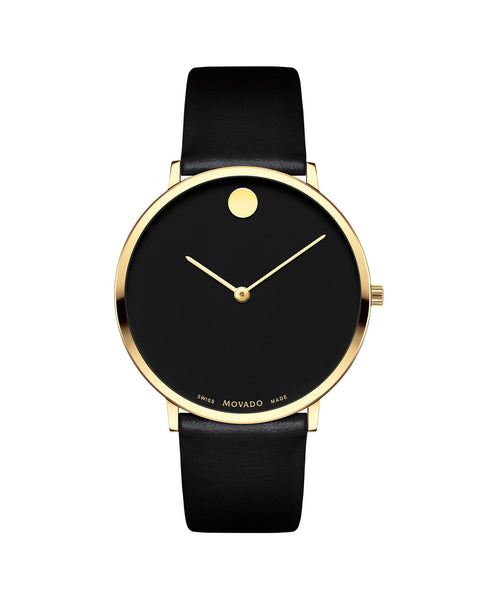 Movado Men's Museum Dial 70th Anniversary Special Edition Watch, 40 mm Ultra Slim Yellow Gold PVD Stainless Steel 0607135 - Arnik Jewellers