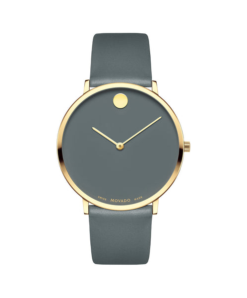 Movado Men's Museum Dial 70th Anniversary Special Edition Watch, 40 mm Ultra Slim Yellow Gold PVD Stainless Steel 0607136 - Arnik Jewellers