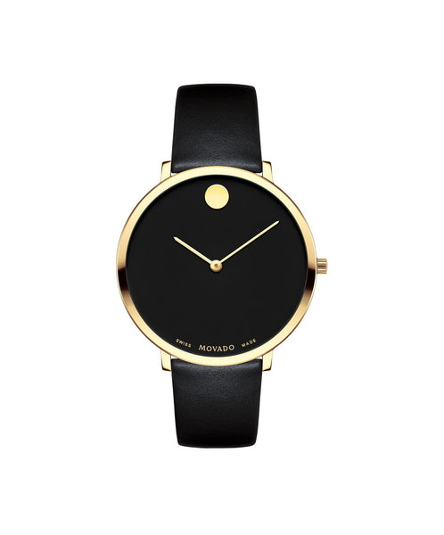 Movado Women's Museum Dial 70th Anniversary Special Edition Watch, 35 mm Ultra Slim Yellow Gold PVD Stainless Steel 0607137 - Arnik Jewellers