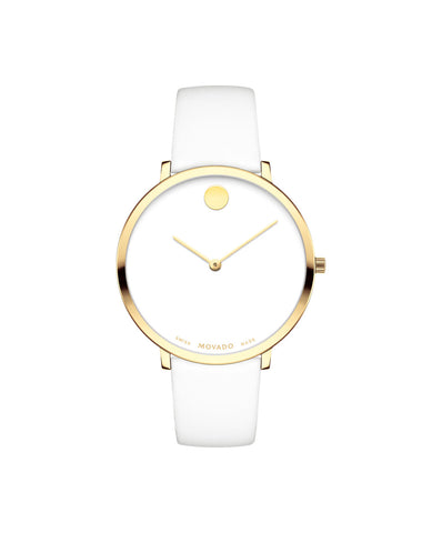 Movado Women's Museum Dial 70th Anniversary Special Edition Watch, 35 mm Ultra Slim Yellow Gold PVD Stainless Steel 0607138 - Arnik Jewellers