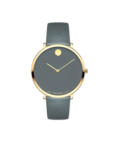 Movado Women's Museum Dial 70th Anniversary Special Edition Watch, 35 mm Ultra Slim Yellow Gold PVD Stainless Steel 0607140 - Arnik Jewellers