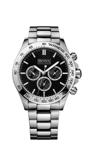 Hugo Boss 1512965 Men's Black Chronograph Stainless-Steel Quartz Watch - Arnik Jewellers