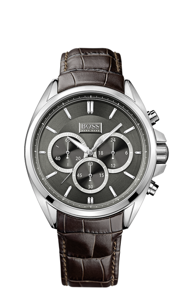 Hugo Boss 1513035 Chronograph Croc-Embossed Leather Strap Driver Watch - Arnik Jewellers