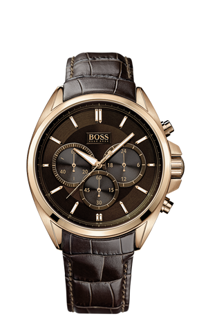 Hugo Boss 1513036 Chronograph Croc-Embossed Leather Strap Driver Watch - Arnik Jewellers