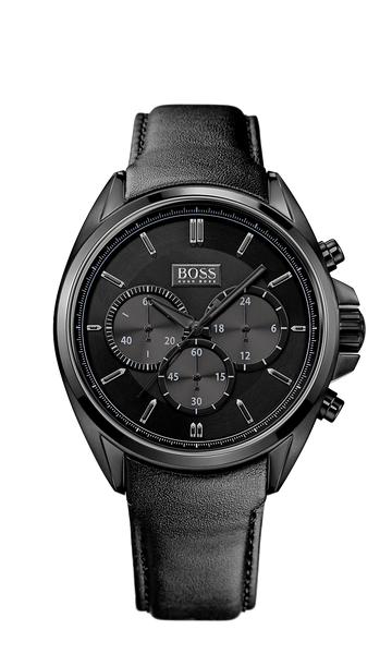 Hugo Boss 1513061 Chronograph Black Leather Strap Driver Watch - Arnik Jewellers