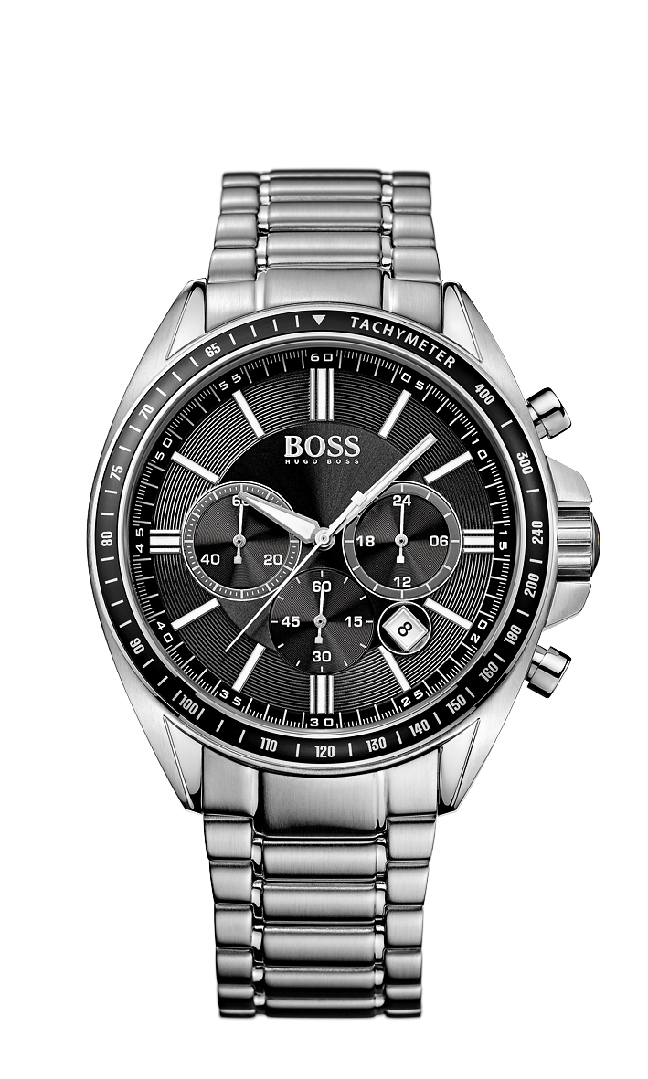 Hugo Boss 1513080 Chronograph Stainless Steel Bracelet Black Dial Watch - Arnik Jewellers