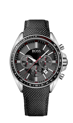 Hugo Boss 1513087 Chronograph Black Kevlar Strap Driver Watch - Arnik Jewellers