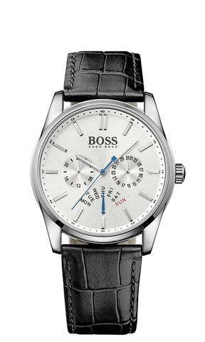 Hugo Boss 1513123 Heritage Silver Leather Quartz Watch - Arnik Jewellers