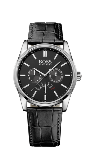 Hugo Boss 1513124 Men's Heritage Leather Strap Watch  - Arnik Jewellers