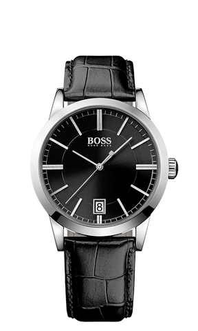 Hugo Boss 1513129 Black Leather Strap Watch 42mm - Arnik Jewellers