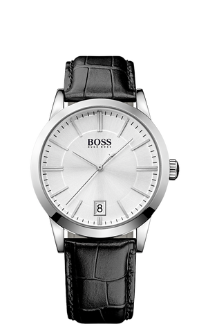 Hugo Boss 1513130 Leather Croc-Embossed Strap 3-Hand Quartz Success Watch - Arnik Jewellers