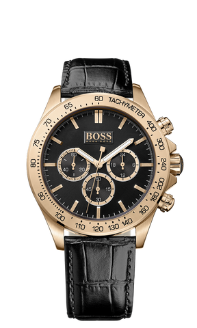 Hugo Boss 1513179 Men's Chronograph Rose Gold PVD Black Croc Strap Watch  - Arnik Jewellers