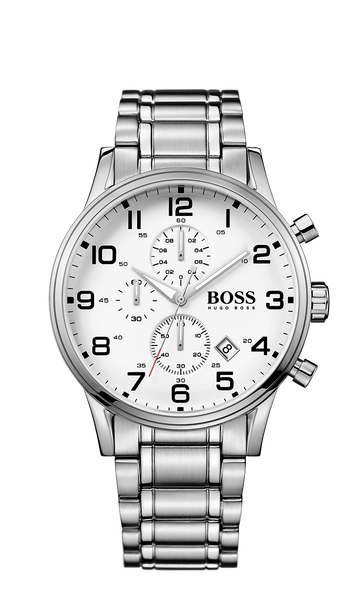 Hugo Boss 1513182 Men's Aeroliner Silver Stainless-Steel Quartz Watch - Arnik Jewellers