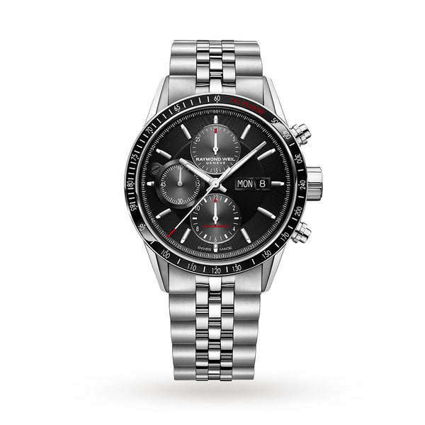 Raymond Weil Freelancer Automatic Chronograph 42mm Stainless Steel Black Dial 7731-ST1-20621 - Arnik Jewellers
