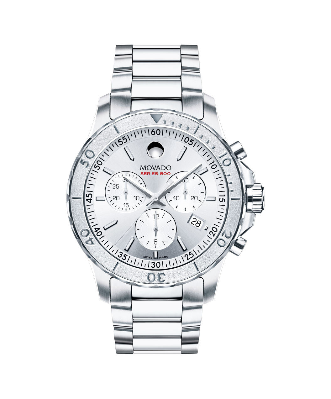 Movado Men's Series 800 Chronograph Watch, 42 mm Performance Steel 2600111 - Arnik Jewellers